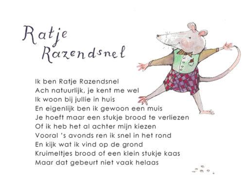 Kinderboekje Fantasiebeestjes Ratje Razendsnel